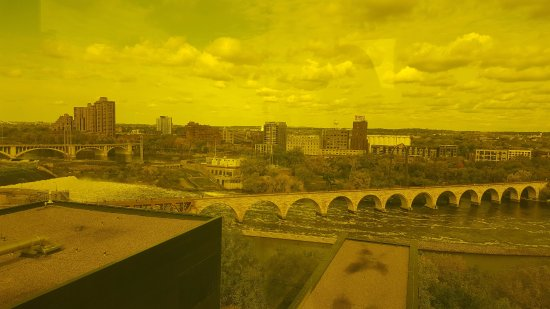 Yellow Room photo from the 9th floor of the Guthrie Theater. A full view around the city!