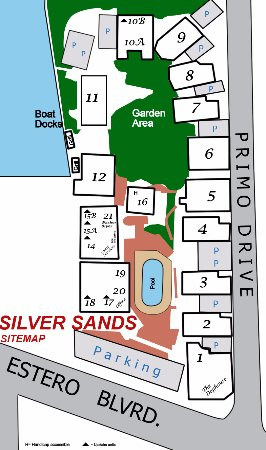 Map of the property - Picture of Silver Sands Villas, Fort ...