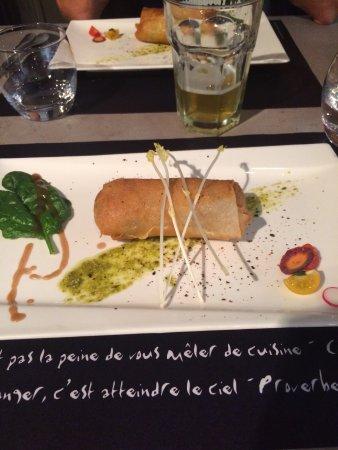 La Roche-Posay, Francia: Nem au tourteau et crevettes