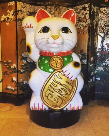 Humble, TX: Come check out the Asian City #AsianKitty. A good luck charm in Japan, we hope this giant sculpt