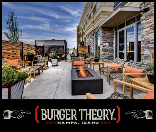 Burger Theory Nampa - Patio Dining, Drinking, Relaxing.