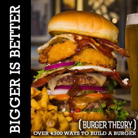 Burger Theory Nampa - Build it any way you want. Big or Small, it's YOUR creation.