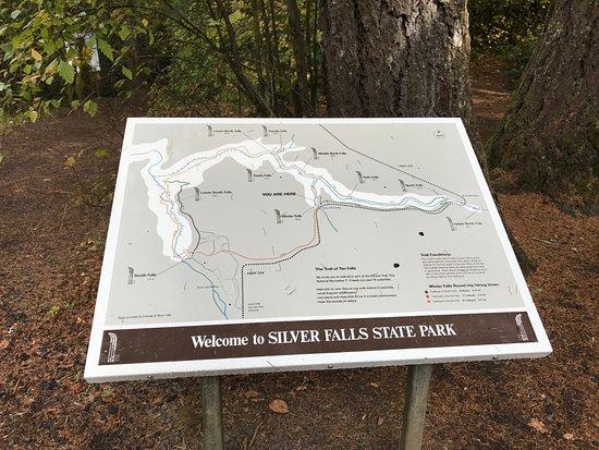 Sublimity, Oregón: Trail map
