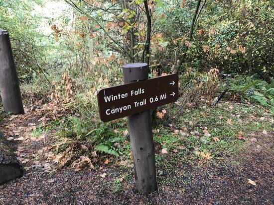 Sublimity, Oregón: Trail sign