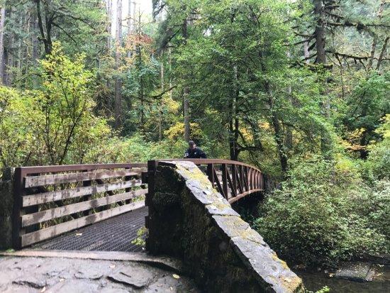 Sublimity, Oregon: Bridge over the stream