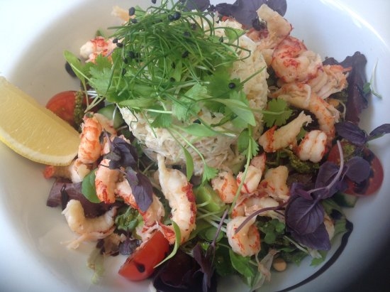 The Waymarker: Large cornish crab and crayfish tail salad