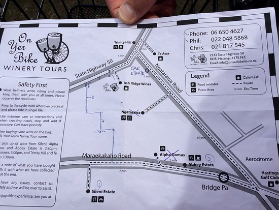Гастингс, Новая Зеландия: Map of the area!