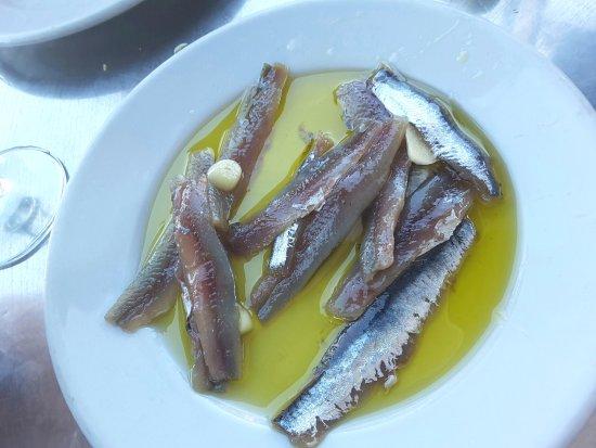 Santiago de la Ribera, Ισπανία: Filet d'anchois.