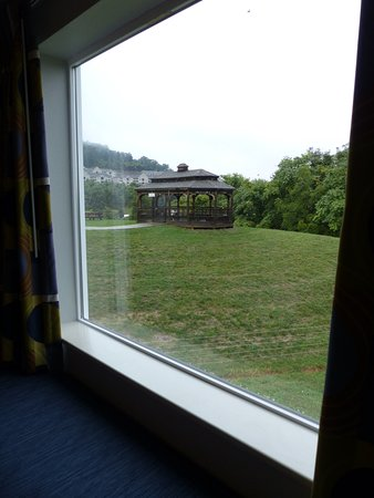 View from our king room, Quality Inn & Suites, Staunton