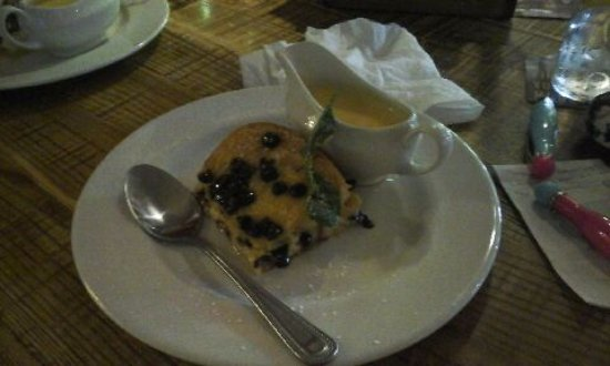 The Longhorn : Delicious orange bread and butter pudding