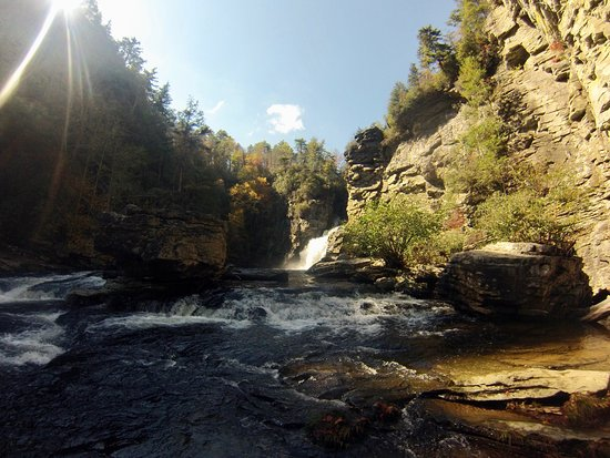 Linville Falls, North Carolina: The end of the Plunge Trail