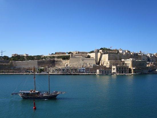 Senglea, Malta: ヴァレッタ方面の眺め