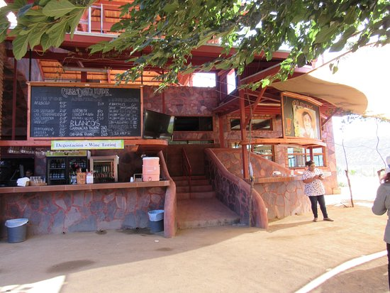 La Casa de Dona Lupe : The bar area where you can order food and beverages
