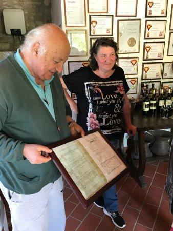 Sandro showing La Ripa documents