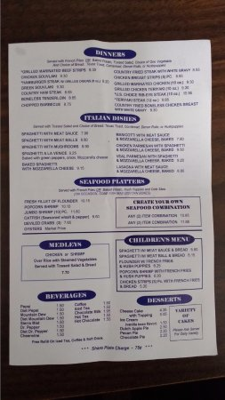 Pete's Family Restaurant: Menu