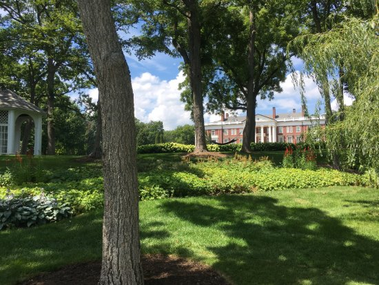 Lake Geneva, WI: mansion on the shore path