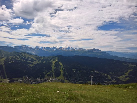 Les Gets, Frankrijk: View from the top.