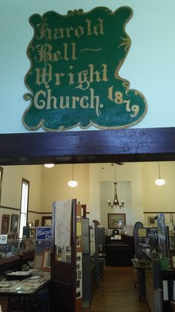 Pierce City, MO: Museum building is former First Christian Church aka Harold Bell Wright Church