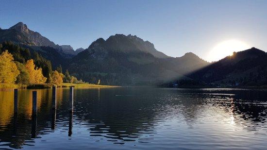 Schwarzsee, Schweiz: Закат на Чёрном озере