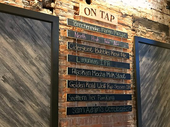 Kent, OH: On tap brews on 10-17-17.