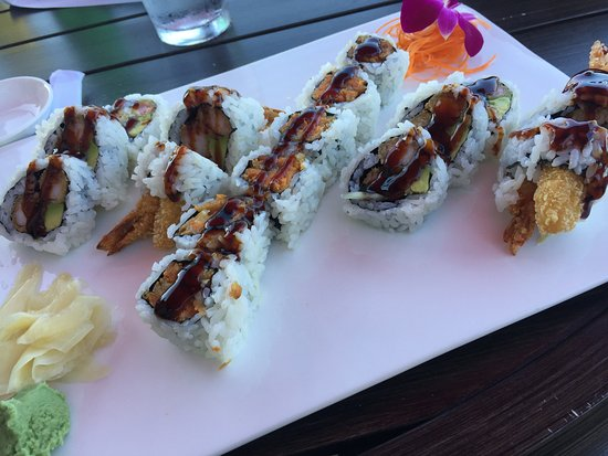 Ellicott City, MD: Shrimp tempura rolls around sweet potato roll