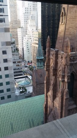 The Peninsula New York: View North from the room's single window.