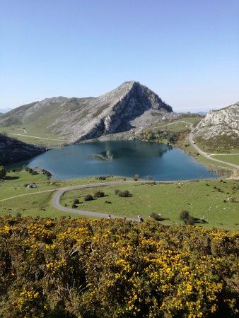 Lagos de Covadonga: Lago Enol desde arriba