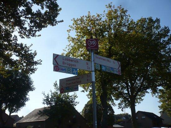 Bruggen, Tyskland: Info Wegweiser.
