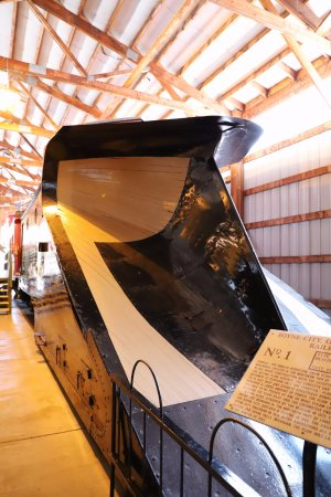 Mid-Continent Railway Museum: Wooden snow plow.