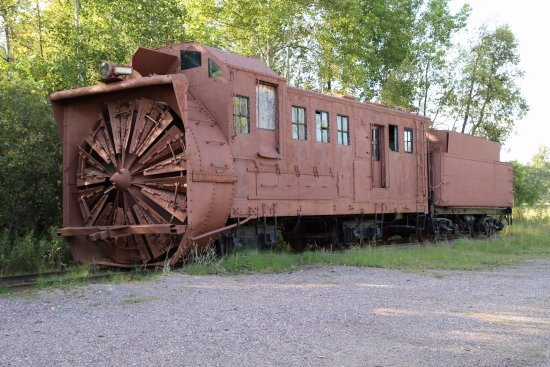 Mid-Continent Railway Museum: Rotary snow plow.