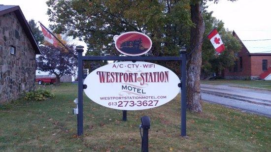 Westport, Canadá: Entrance sign