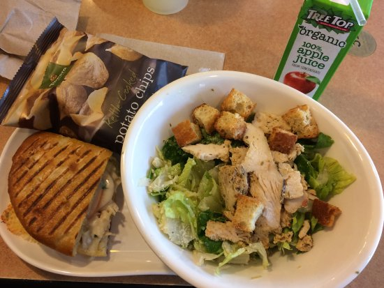 Champaign, IL: Caesar salad and sanwich combo