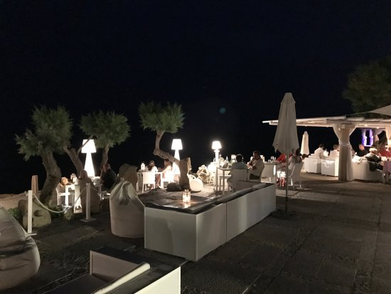 Son Servera, Spanien: Dining with seaview