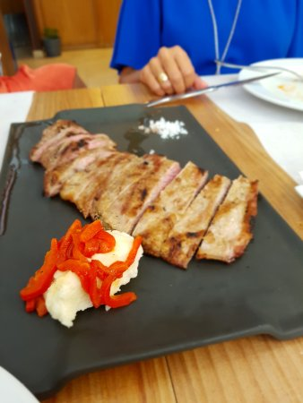 Barbastro, Spain: Secreto de cerdo. Exquisito!