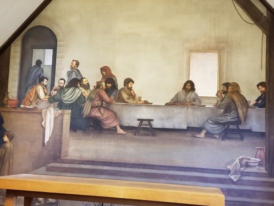 Glendale Springs, NC: The Last Supper fresco by Ben Long Holy Trinity Church
