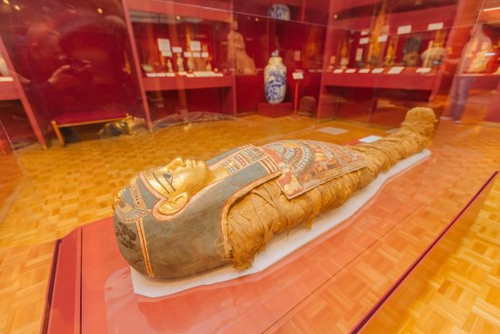 Shawnee, OK: Tutu, an ancient Egyptian mummy at the Mabee-Gerrer Museum of Art
