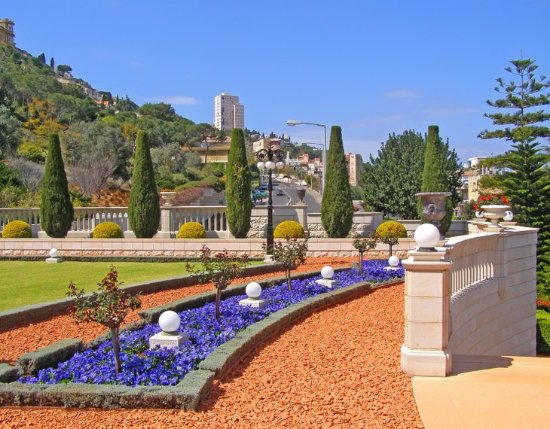 Terrasses baha'ies : Jardins Baha'i e Domo Dourado