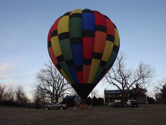 Charlottesville, VA: The first flight from a historical farm.