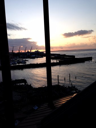 Cannery Pier Hotel: From our room window one evening