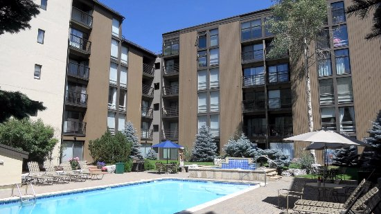 Vail International Condominiums: Year round outdoor pool and hot tub.