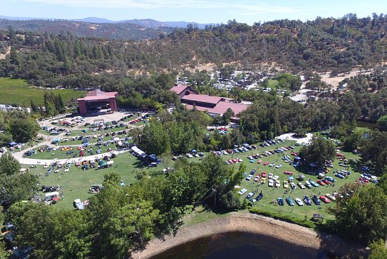 Murphys, CA: Ironstone Concours aerial view