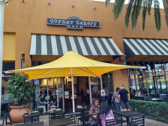 Exterior of the Corner Bakery Cafe located in the Irvine (CA) Marketplace