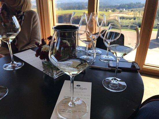 Salem, OR: White wine flight