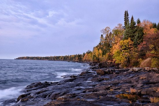 Lutsen, MN: Right across the road from the Lodge