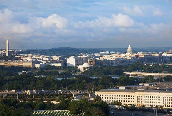 Sheraton Pentagon City Hotel: Hotel view of Washington DC
