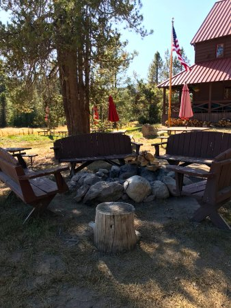 Drakesbad Guest Ranch: Campfire pit. Songs, chats, smores and more!