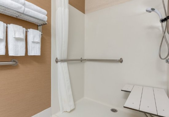 Stevens Point, WI: Accesible Guest Bathroom - Roll-in Shower