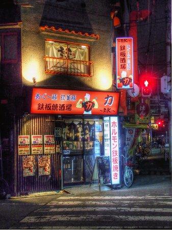 Moriguchi, Japão: 力(りき)アグー豚の美味しい鉄板焼き居酒屋