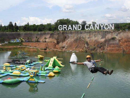Hang Dong, Tailandia: You Can Fly - Zipline - Grand Canyon Water Park