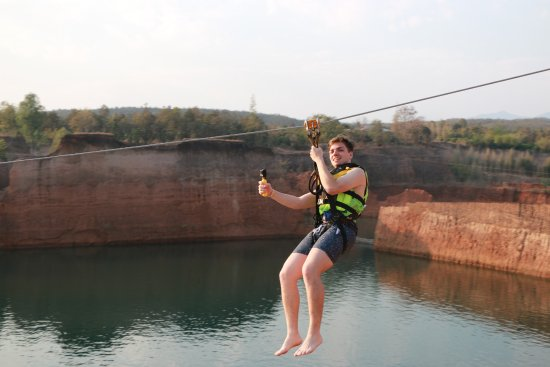 Hang Dong, Tailandia: So good - Zipline - Grand Canyon Water Park